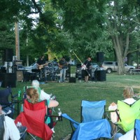 BAND PLAYING IN THE PARK